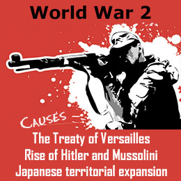 causes of the second world war Causes of the second world war the second world war was caused by: a hitler's aims to unite german speaking people (using nsd which had been denied at the treaty of versailles.